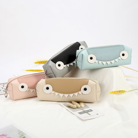 Korean simple little monster pencil case large capacity student stationery bag pencil case  NHAE252102's discount tags