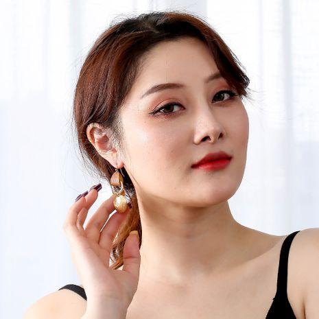 nouvelles boucles d'oreilles en alliage géométrique en cuir rétro pour femmes NHAN252112's discount tags