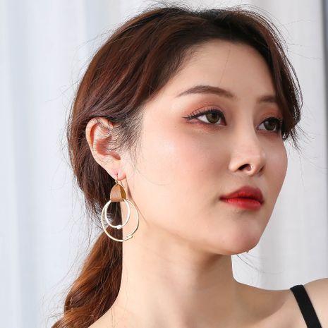 tendance de la mode de vente chaude boucles d'oreilles en alliage de cuir sauvage exagérées pour les femmes accessoires NHAN252137's discount tags