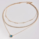 Fashion diamond chain multilayer womens necklace NHAJ252165