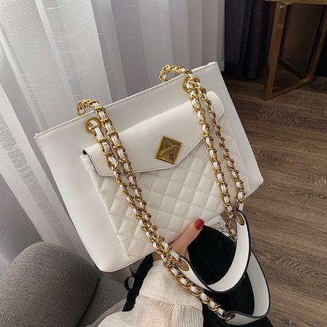Korean new fashion rhombus chain bag large capacity messenger shoulder bag wholesale NHLH252194's discount tags