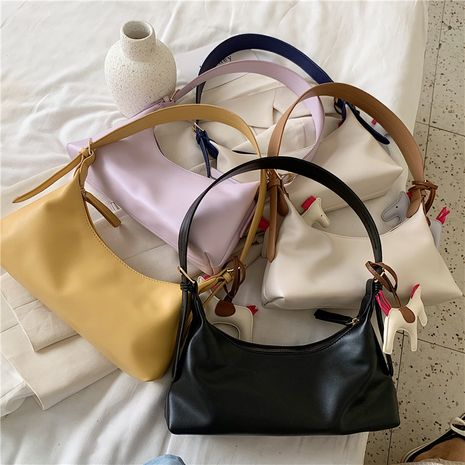 new Korean one-shoulder fashion solid color small square bag wholesale NHLH252205's discount tags