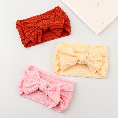 Ensemble de bandeaux pour cheveux à nœud jacquard large super doux pour bébé NHNU252336's discount tags