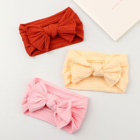 baby super soft solid color wide jacquard bow hair band set   NHNU252336's discount tags