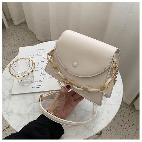 new retro texture small square bag air chain shoulder messenger bag wholesale NHLH252343's discount tags