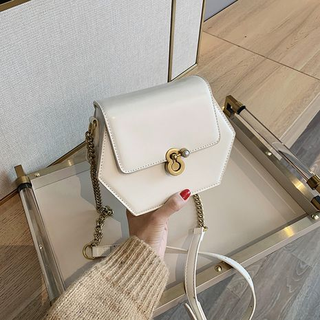 new fashion texture one-shoulder messenger bag all-match chain bag wholesale NHLH252350's discount tags