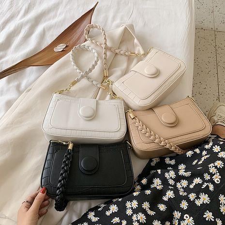 new fashion texture woven shoulder single shoulder stone pattern chain messenger bag wholesale NHLH252351's discount tags