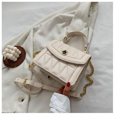 popular new fashion chain shoulder messenger texture small square bag wholesale NHLH252356's discount tags