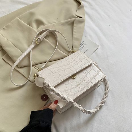 Popular stone pattern new fashion one-shoulder square bag wholesale NHLH252354's discount tags