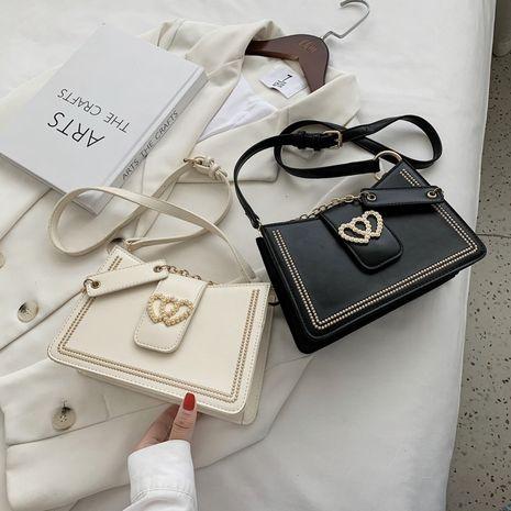 fashion new chain messenger texture simple one-shoulder armpit bag wholesale NHLH252367's discount tags