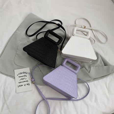 new  retro simple solid color crocodile pattern single shoulder messenger handbag wholesale NHLH252373's discount tags