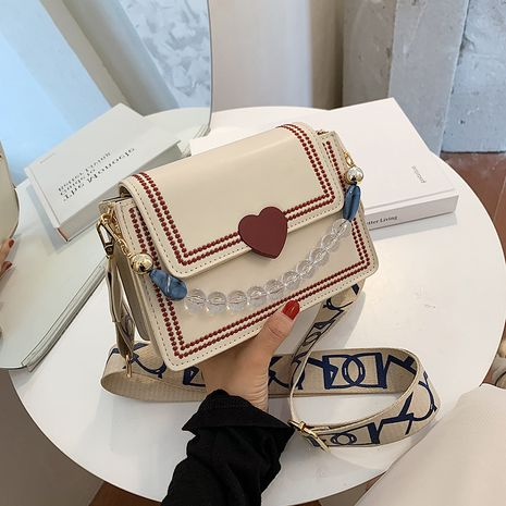 summer new Korean shoulder fashion broadband messenger bag wholesale NHLH252387's discount tags