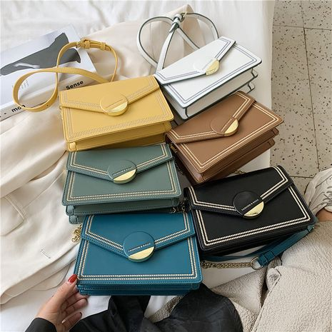 new  retro fashion embroidery thread one-shoulder small square bag  wholesale NHLH252391's discount tags