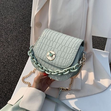new fashion texture one-shoulder messenger chain bag wholesale NHLH252426's discount tags