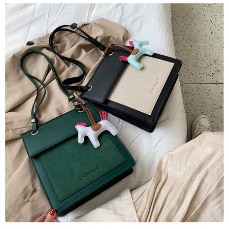 Korean fashion letter hit color single back messenger frosted tote bag wholesale NHLH252452's discount tags