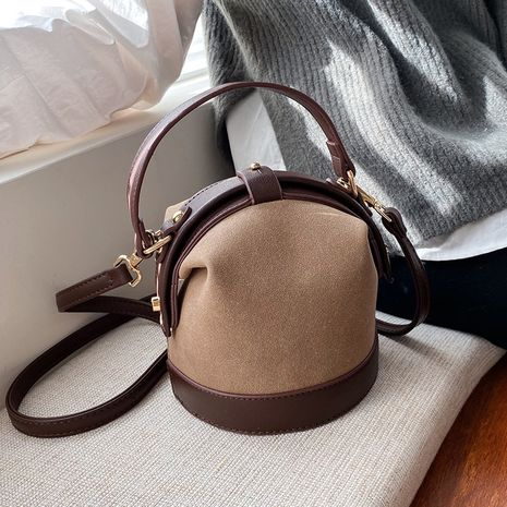 new Korean fashion frosted one-shoulder messenger bucket bag wholesale NHLH252454's discount tags