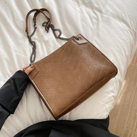 Large-capacity bag women new Korean fashion simple shoulder messenger bag tote bag wholesale NHLH252455's discount tags