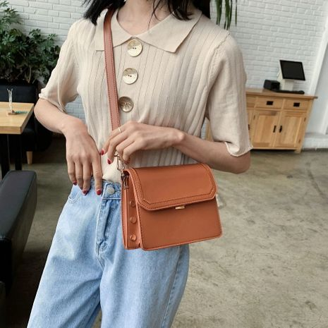 women's popular new texture one-shoulder messenger small square bag wholesale NHLH252456's discount tags