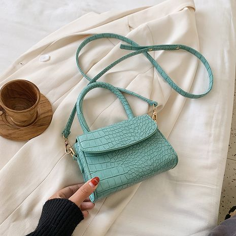 popular new summer stone pattern portable messenger small square bag wholesale NHLH252465's discount tags