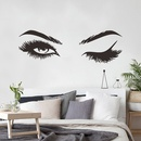 sexy beauty with open eyes  closed eyes beautiful eyelashes  lettering stickers  NHAF260335