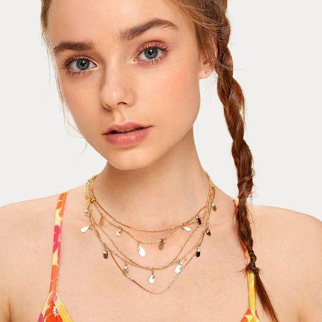 Collier en strass à paillettes multicouche de style ethnique nouveau bohême pour femme NHRN260344's discount tags