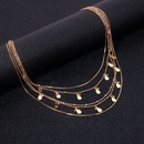 Ethnic style new bohemia multilayer sequined rhinestone necklace for women NHRN260344