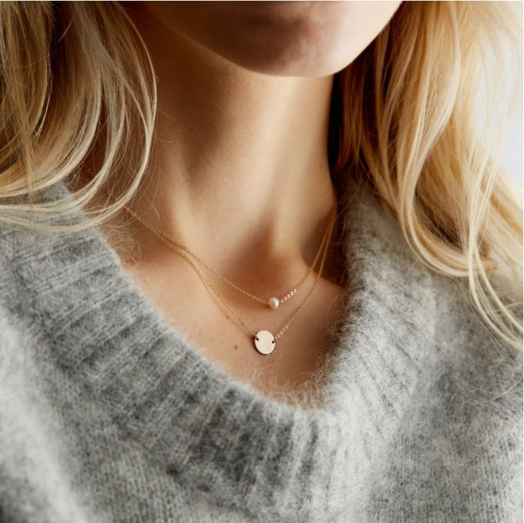 new fashion bohemian style clavicle chain choker pearl multilayer necklace for women NHRN260347