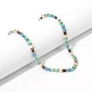 Fashion turquoise gravel short necklace  NHRN260360