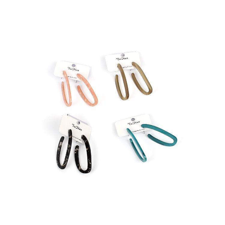 simple new fashion geometric resin retro acrylic plate acylic earrings NHRN260375