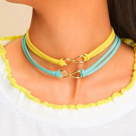 new hot-saling 8 word infinite Korean velvet rope short choker  NHRN260379's discount tags