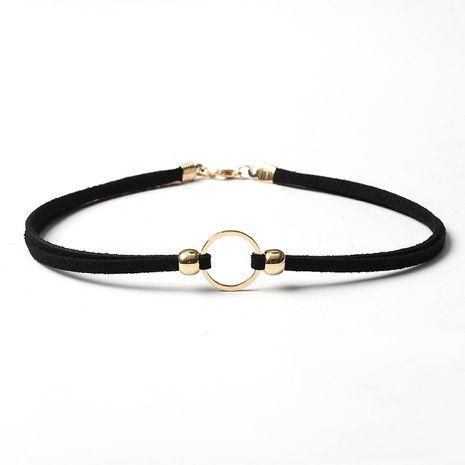 hot sale women's fashion geometric circle multi-layer necklace choker NHRN260385's discount tags