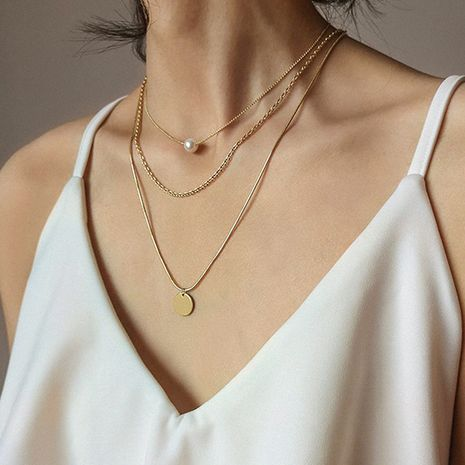 Hot selling fashion multi-layer pearl women's necklace   NHRN260408's discount tags