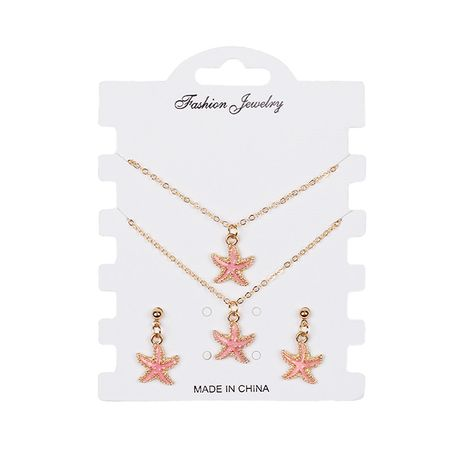 Hot-selling  bracelet earrings  necklace creative starfish set NHRN260428's discount tags