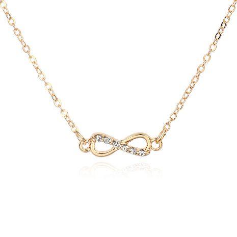 Bracelet de cheville de collier de diamant de noeud creux de mode NHRN260431's discount tags