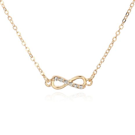 Fashion Hollow Bow Diamond Necklace Bracelet Anklet  NHRN260431's discount tags