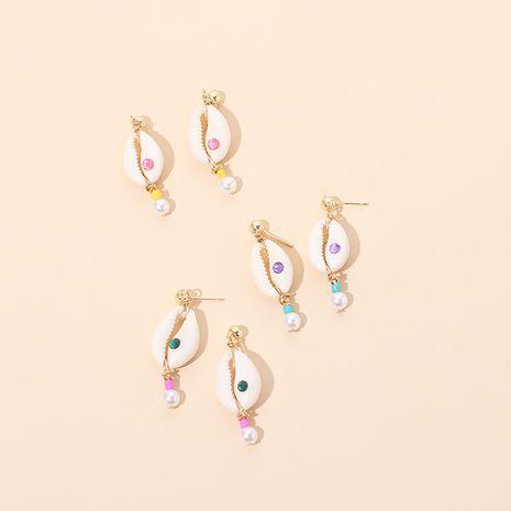 Hot Selling Mode neue Edelstein Muschel Perlen Ohrringe Großhandel NHRN260432's discount tags