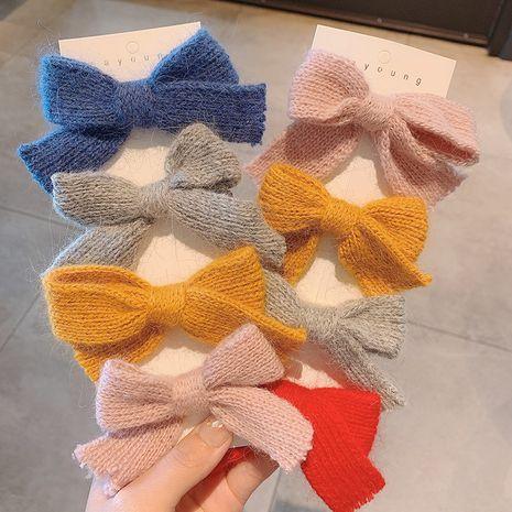 Hot selling fashion wool big bow hairpin cute Hair Scrunchies NHCQ260433's discount tags