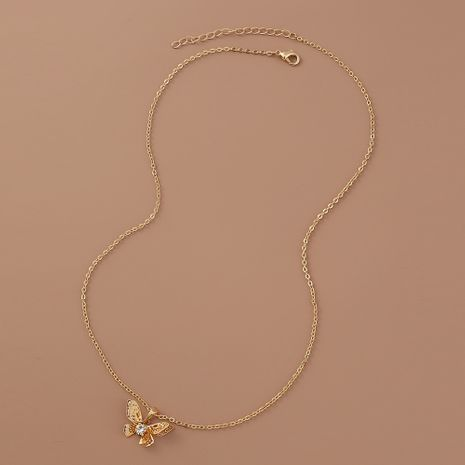 Hot selling fashion simple multi-layer hollow butterfly pendant necklace  NHAN260443's discount tags