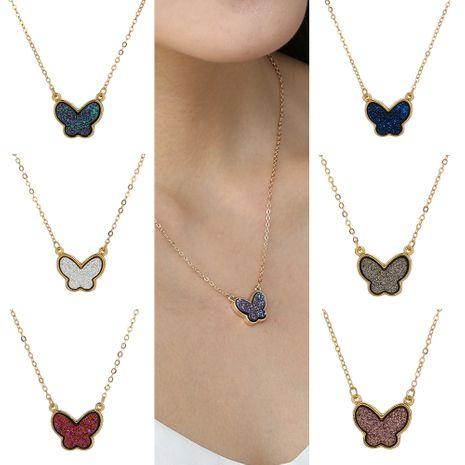 Collier sauvage de mode papillon en cristal multicolore créatif NHAN260444's discount tags