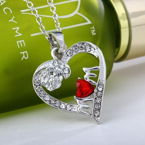 Vente chaude collier pendentif fleur rose créative en gros NHAN260453's discount tags