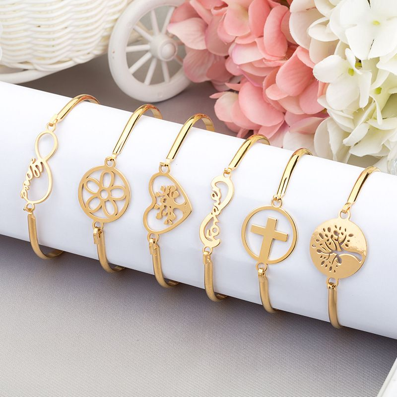 Fashion new simple allmatch stainless steel bracelet NHAN260457