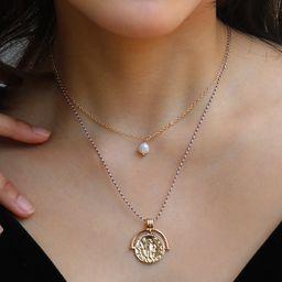 Hot Selling Mode Blumenperle Anhänger mehrschichtige Halskette NHAN260458