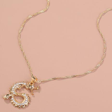Collier pendentif totem dragon diamant classique NHAN260469's discount tags