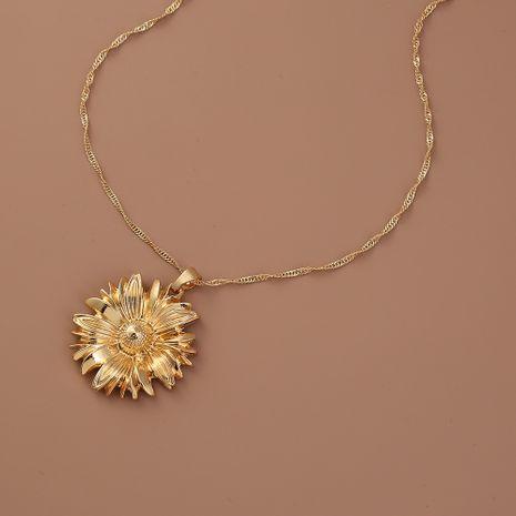 Vente en gros de collier de femmes pendentif chrysanthème de mode de vente chaude NHAN260471's discount tags
