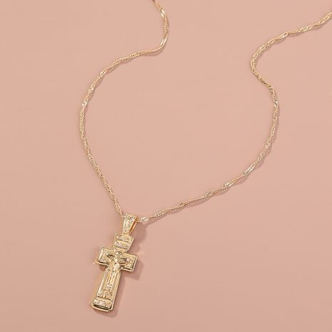 Fashion Atmosphere Retro Cross Necklace wholesale NHAN260472's discount tags
