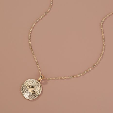 Hot selling fashion Retro Creative Metal Demon Eye Pendant Necklace wholesale NHAN260473's discount tags