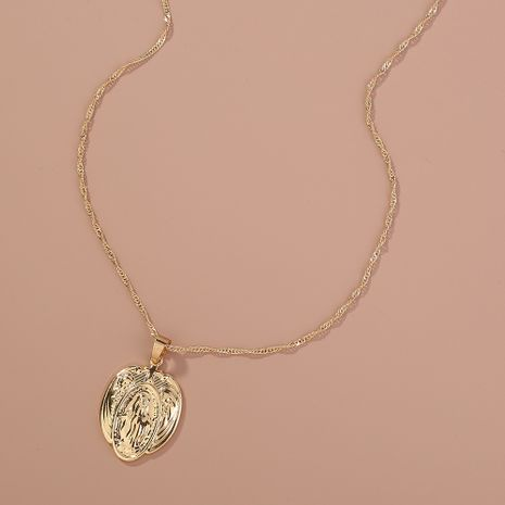 Hot selling fashion gold retro portrait  necklaces  NHAN260474's discount tags