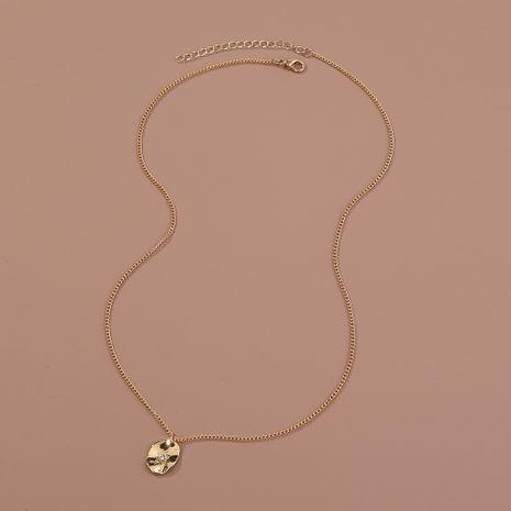 Vente chaude mode simple et petit collier pendentif en alliage étoile ciel en gros NHAN260475's discount tags