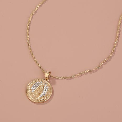 Collier de vente chaude pièce d'argent ronde micro diamant collier pendentif aile d'ange NHAN260480's discount tags