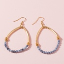 Hot selling fashion round beads natural stone dropshaped earrings wholesale  NHAN260485